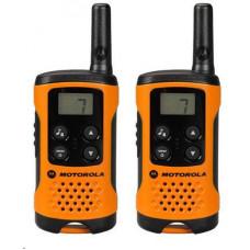Motorola vysílačka TLKR T41 (2 ks, dosah až 4 km), oranžová