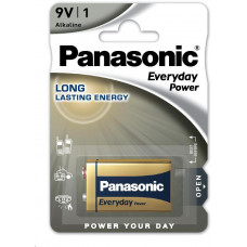 Panasonic Alkalické baterie Everyday Power  6LF22EPS/1BP  9V 9V (Blistr 1ks)