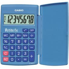 Casio kalkulačka LC 401 LV BU - blue, školní kalkulátor