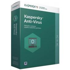 Kaspersky Lab Kaspersky Anti-Virus 2019 CZ, 5PC, 1 rok, obnovení licence, elektronicky