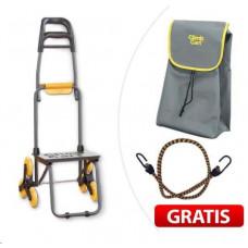 Climb Cart - skládací nákupní vozík na kolečkách, který umí chodit do schodů