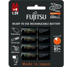 Fujitsu nabíjecí baterie BLACK R06/AA, 2450 mAh, 500 nabíjecích cyklů, blistr 4ks