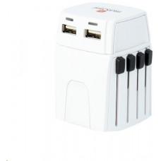 Skross MUV Micro USB cestovní adaptér, 2.5A max., vč. USB nabíjení 2x výstup s LED indikací -