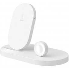BELKIN 7.5W Charge dock for Apple Watch / iPhone, White with USB