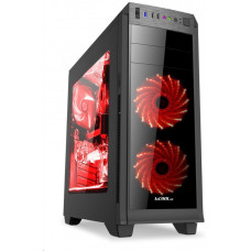 1stCool skříň GAMER 2 Aura ARGB, Middle Tower, AU, čtečka karet, USB 3.0 + Set FAN, bez zdroje