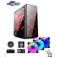 1stCool skříň GAMER 3 Aura ARGB, Middle Tower, AU, USB 3.0 + Set FAN ARGB, bez zdroje