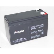 FUKAWA Baterie - FUKAWA FW 7,2-12 F2U (12V/7,2 Ah - Faston 250), konektor - 6.3mm, životnost 5let