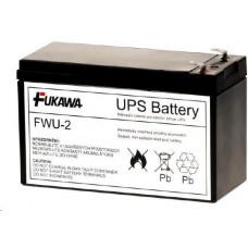 FUKAWA Baterie - FUKAWA FWU-2 náhradní baterie za RBC2 (12V/7,2Ah, Faston 250), životnost 3-5let