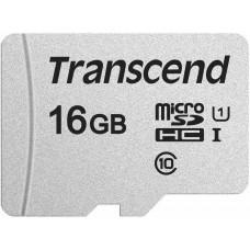 Transcend MicroSDHC karta 16GB 300S, UHS-I U1 + adaptér