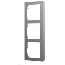 Hikvision DS-KD-ACW3, rámeček pro modulární interkom, pro 3 moduly, povrchová montáž