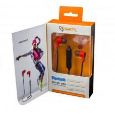 SBOX EP-BT219, černo/červená , Bluetooth sportovní stylová sluchátka do uší s mikrofónem