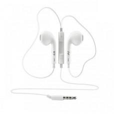 SBOX IEP-204W, bílá , stylová sluchátka do uší s mikrofónem