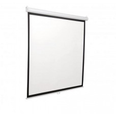 SBOX PSA-112 závěsné eletrické roletové plátno, 200x200cm, úhlopříčka 112 palců, 1:1, bílé pouzdro