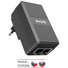 TENDA PoE15F-48V-I Fast Ethernet Power Injector PoE 15.4W, 802.3af, 2x LAN 10/100 Mb/s