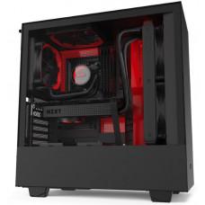 NZXT skříň H510i / ATX / průhledná bočnice / USB 3.0 / USB-C 3.1 / RGB LED / Smart case s intel.