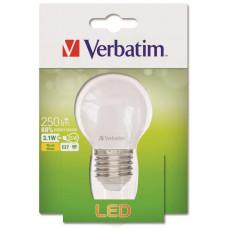 Verbatim LED žárovka Verbatim, E27 3,1W 250lm (25W), typ Mini Globe, matná, teplá bílá