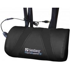 Sandberg herní USB masážní polštář, černá