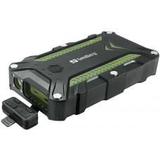 Sandberg přenosný zdroj USB 15600 mAh, Survivor Outdoor, pro chytré telefony, černozelený