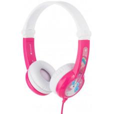 Buddyphones Connect - dětská drátová sluchátka s mikrofonem, růžová