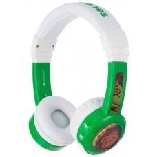 Buddyphones Inflight - dětská drátová sluchátka s adaptérem do letadla, zelená