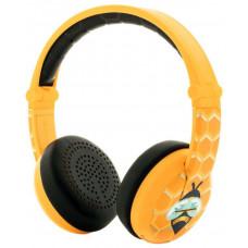 Buddyphones Wave - Bee, dětská bluetooth voděodolná sluchátka, žlutá