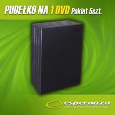 Ostatní Box na 1 DVD - 14 mm, černý, 5-pack ve folii + EAN