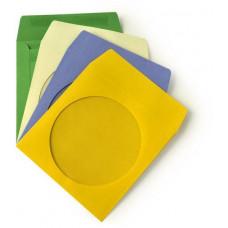 Ostatní Papírová obálka na CD/DVD s okénkem, ve folii, 100-pack, barevné (bez lepení)