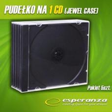 Ostatní Slimbox na 1 CD - 8 mm, černý tray, 5-pack ve folii + EAN