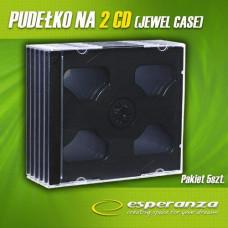 Ostatní Slimbox na 2 CD - 8 mm, černý tray, 5-pack ve folii + EAN
