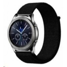 Eses nylonový řemínek černý na suchý zip pro samsung galaxy watch 46mm/samsung gear s3