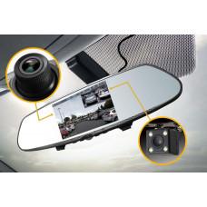 Technaxx digitální autokamera a parkovací kamera ve zpětné zrcátku (TX-124)