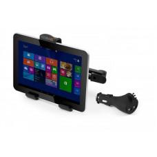 Technaxx sada držáku na opěrku hlavy a USB nabíječky do auta pro tablety, 2 porty (TE07)