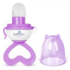 BAYBY BBA 6402 Dudlík krmící fialový 4m+