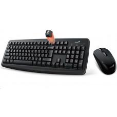 Genius klávesnice s myší Smart KM-8100/ Bezdrátový set 2,4GHz mini receiver/ USB/ černá/ CZ+SK