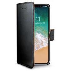 CELLY Pouzdro typu kniha Wallet iPhone X/XS, černé