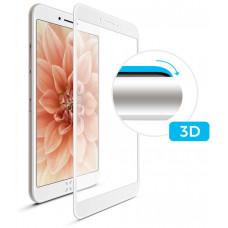 FIXED 3D sklo FIXED iPhone 7/8, plné lepení, bílé