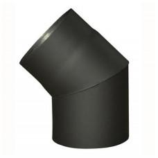 EUROMETAL koleno kouřové 120mm/45st.t.1,5mm ČER