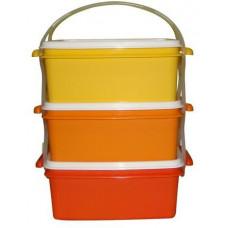 DK PLAST jídlonosič 3x1,2l hranatý 17x15x18,5cm PH mix barev