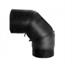 EUROMETAL koleno kouřové otočné 130mm/90st.t.1,5mm ČER