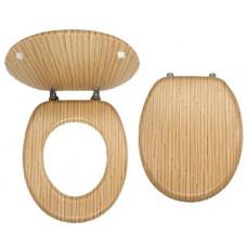 NOVASERVIS sedátko WC dřev. BAMBUS