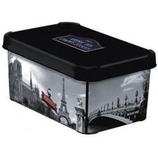 CURVER box úložný PARIS 29,5x19,5x13,5cm (S) s víkem, PH