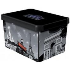 CURVER box úložný PARIS 39,5x29,5x25,0cm (L) s víkem, PH