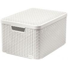 CURVER box úložný RATTAN 44,5x33x25cm (L) s víkem, STYLE2, PH KRÉM