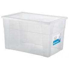 STEFANPLAST box úložný SCATOLA 62l, 60x40x35cm s víkem PH TRA mix