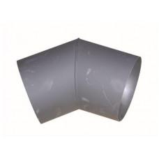 EUROMETAL koleno kouřové 125mm/45st.t.1,5mm ČER