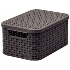 CURVER box úložný RATTAN 29x20x14cm (S) s víkem, STYLE2, PH HN
