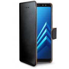 CELLY Pouzdro typu kniha Wallet Galaxy A8 (2018), černé
