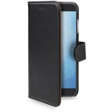 CELLY Pouzdro typu kniha Wallet Galaxy A6+ (2018), černé