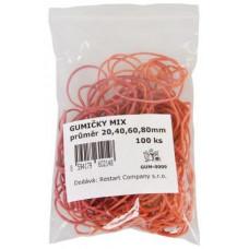 GUM-0009 gumičky mix 20,40,60,80mm (100ks)