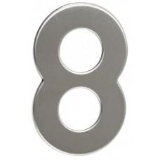 RICHTER číslo domovní č.8  95mm nerez
